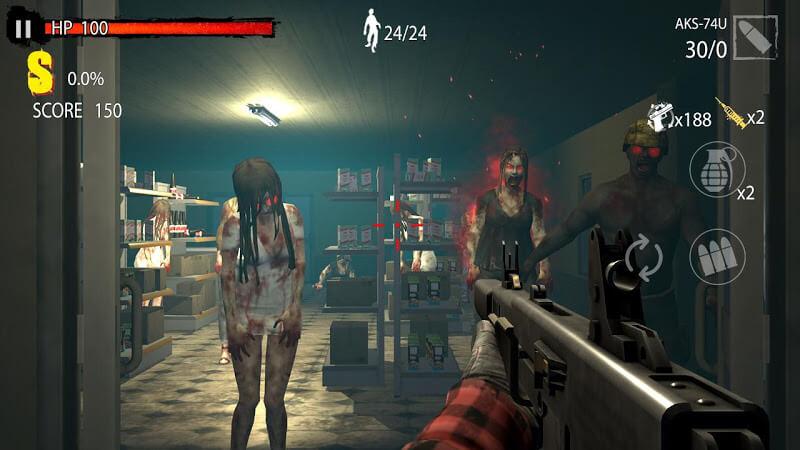 Zombie Hunter D Day MOD APK