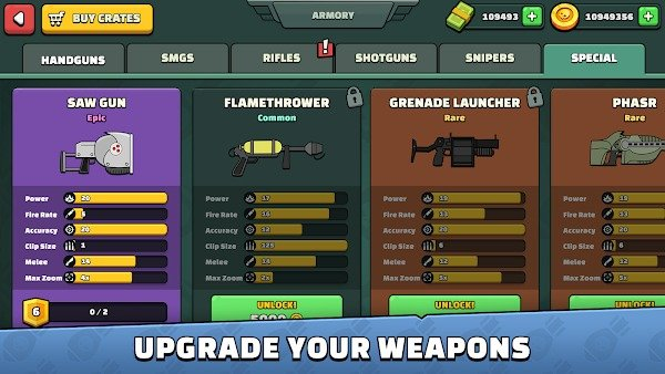upgrade weapons