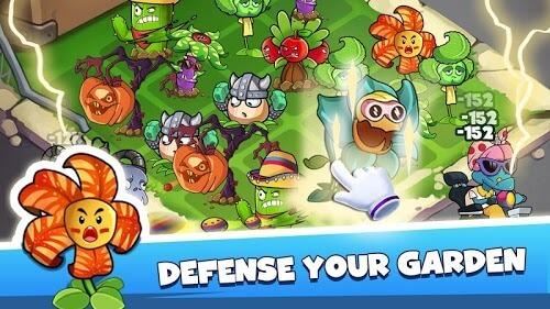 Merge Plants Zombie Defense gameplay